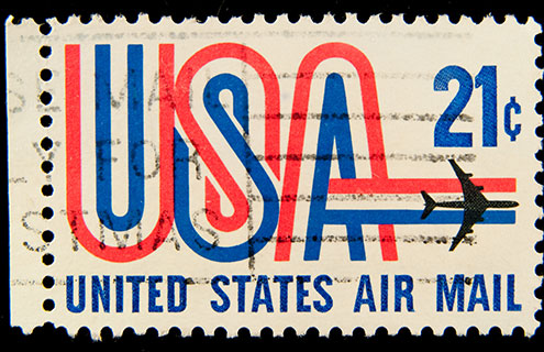An image of United States Air Mail Stamp for 21¢