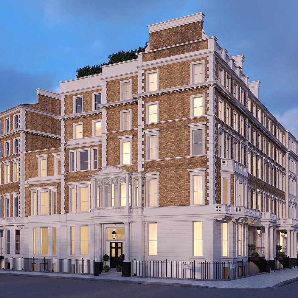 The exterior of The Arts House, 108-110 Gloucester Road, London - luxury boutique development