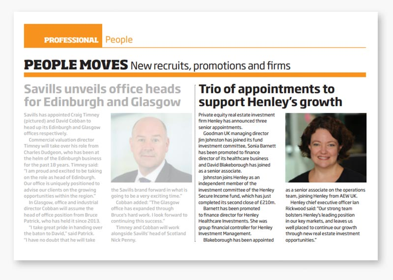Henley announces three senior appointments - Property Week Dec 1st 2017